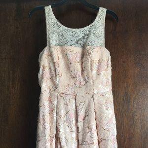 Anthropologie - Eva Franco Sequin & Lace Dress